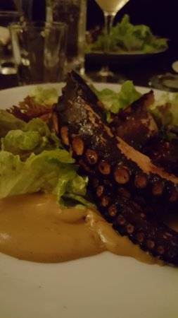 Brasserie la bonne franquette: Salade de Poulpe grillé ! (une tuerie)