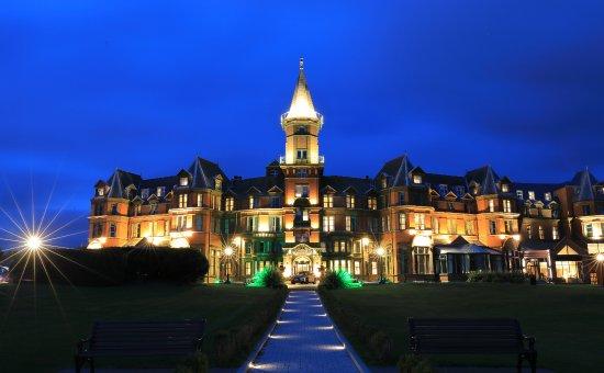 Beautiful Slieve Donard Resort and Spa by night
