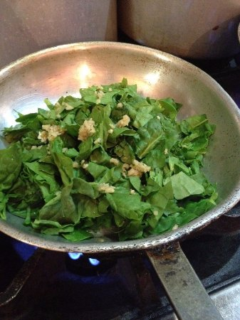 Amherst, MA: Sauteed spinach and garlic