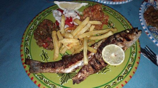 Restaurant Sidi Ali Adel : Сибас на гриле