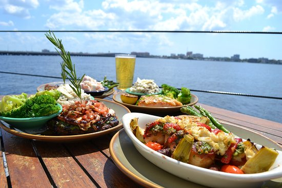 Palmetto, FL: Trio of dishes on the waterfront