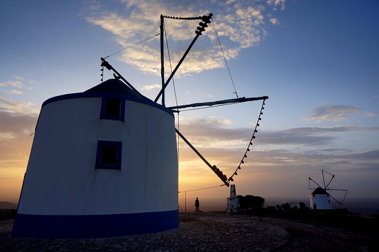 Alenquer, Portugal: Traditional windmills.