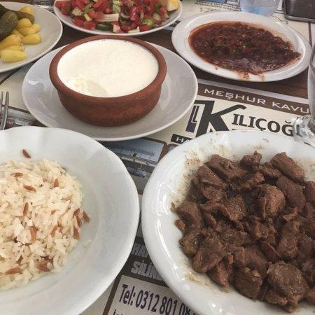 Kazan, Τουρκία: manda yoğurdu kavurma pilav