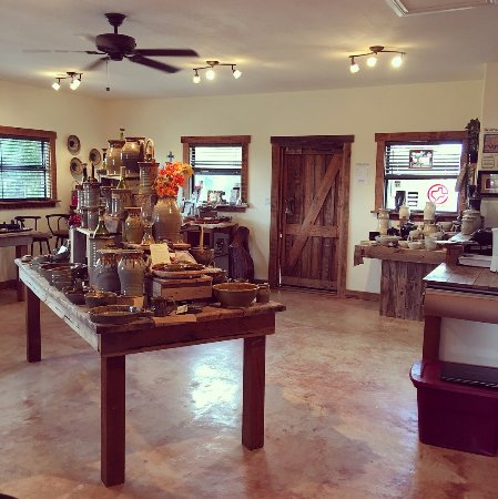 Hill Country Pottery: Interior of the shop