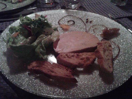 Ballan Mire, Francia: foie gras (entrée)
