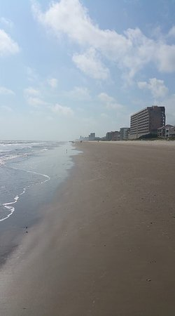 The beach outside Wanna Wanna