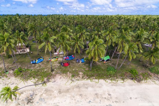 Uoleva Island, Tonga: Fanifo Lofa with some kites drying