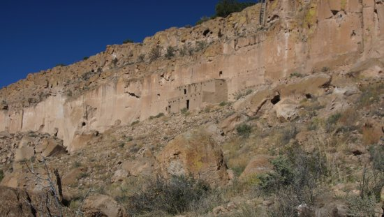 Espanola, NM: Reconstructed cliff dwelling
