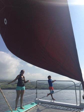 Kawaihae, Χαβάη: My 6 years old the boat with Ashley -