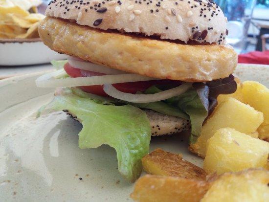 Сант-Жорди, Испания: Hamburguesa de pollo.