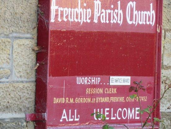 Freuchie, UK: sign