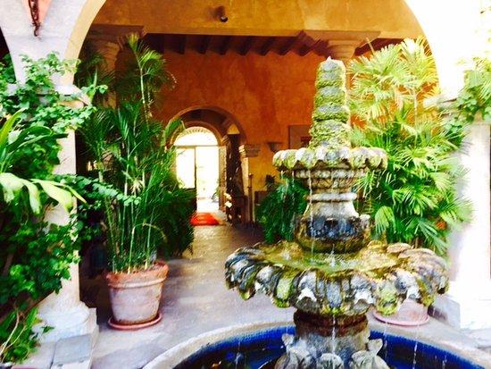 Hacienda De Los Santos: From main entry.