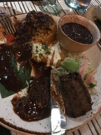 Good margaritas, regular food but amazing service.