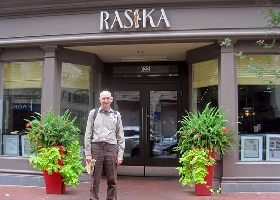 Rasika: Two locations - Here is the 633 D Street NW restaurant. The other is at 1190 NH Avenue NW
