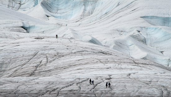 gletsjerwandeling, Kennicott, Alaska