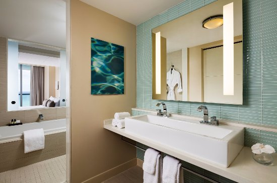 double vanity with tower. Eden Roc Miami Beach Resort  Ocean Tower Room Double Vanity with Robe and Soaking Tub Picture