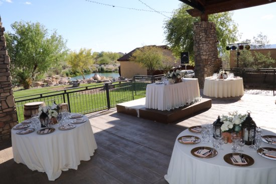 Bullhead City, AZ: Event Patio waiting for the guests at Laughlin Ranch
