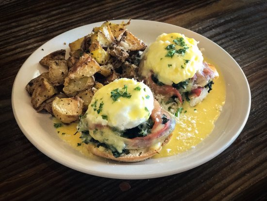 Norman, OK: Eggs Benedict Florentine for our Sunday brunch from 11am to 2pm