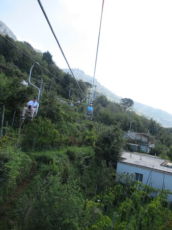Mount Solaro: On the chairlift