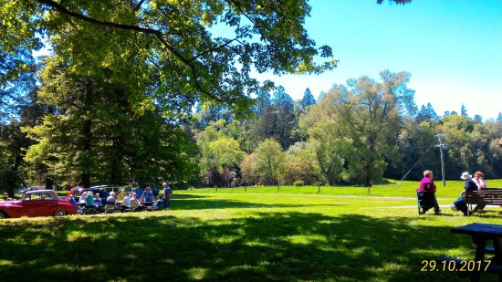 Darfield, New Zealand: a view of the grounds