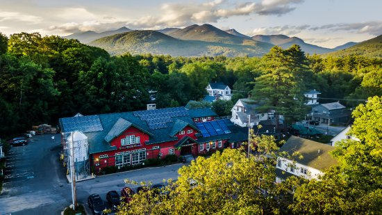 Woodstock, NH: An aerial view of our inn, restaurant & brewery