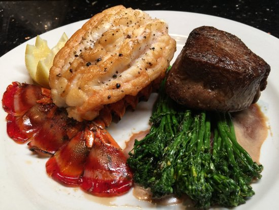 Filet mignon with lobster tail picture of chamberlain 39 s for Chamberlains fish market grill