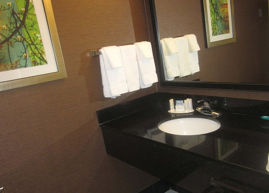 Fairfield Inn & Suites Carlisle: Counter-Space in Bathroom