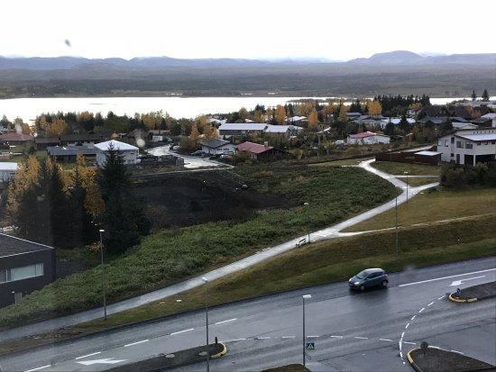 Kopavogur, IJsland: Outside the apartment