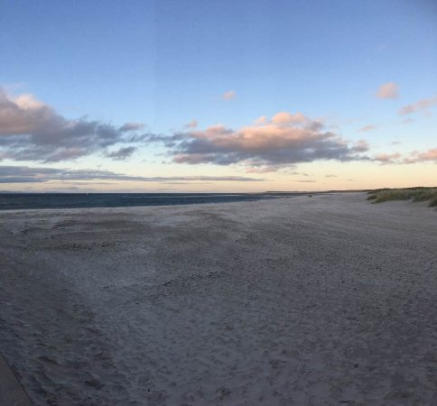 Nairn, UK: sandy dunes at dusk