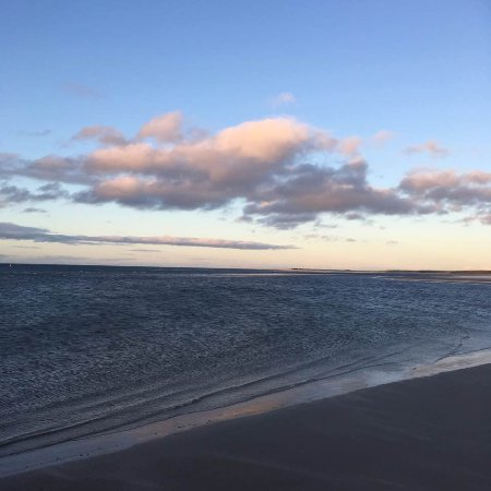 Nairn Beach: sky reflecting on the water