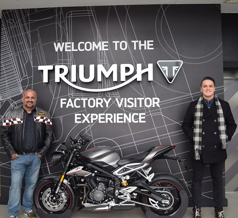 Hinckley, UK: My son and I both own triumphs. Explorer & Bonnie, It was amazing day. Thanks again to the staff
