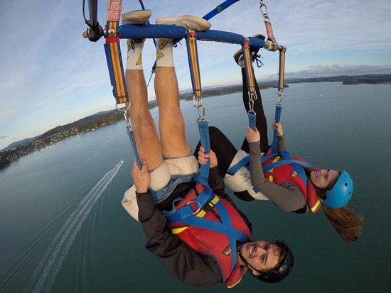 Paihia, Nouvelle-Zélande : Upside down-adrenalin option