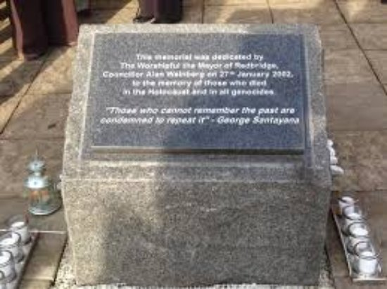 Ilford, UK: One of the stones at the Holocaust Memorial Gardens