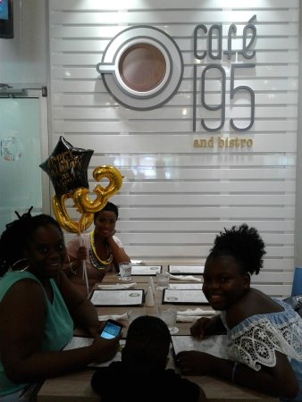 Warrens, Barbados: Birthday celebrations at Cafe 195