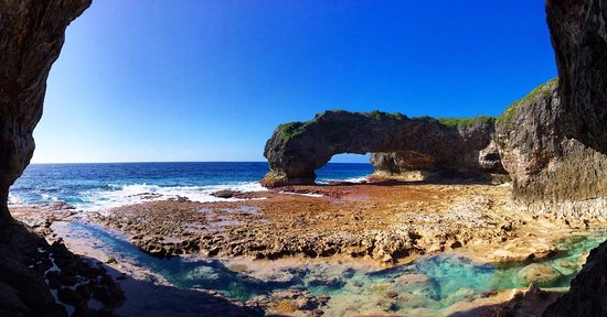 Niue: Go Pro hero shot of Talava Arches - I LOVE this place