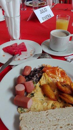 Guapiles, Kostaryka: desayuno