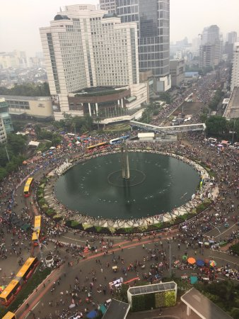 Mandarin Oriental Jakarta: View of city center from room