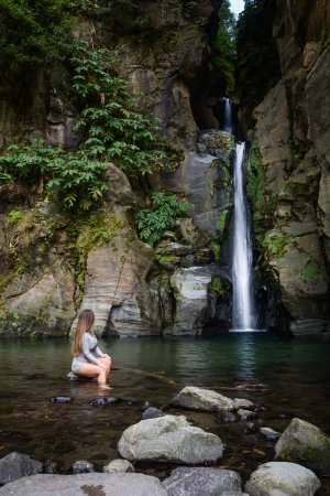 Salto do Cabrito: The water temperature was a little chilly in November, but not ice cold.