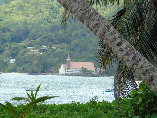 Anse Royale, Seszele: The view from the Kaz Kreol restaurant