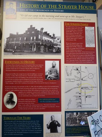 ‪‪The Strayer House Civil War Orientation Center‬: History Sign‬