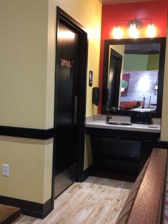 Greenwood, IN: Hand wash station