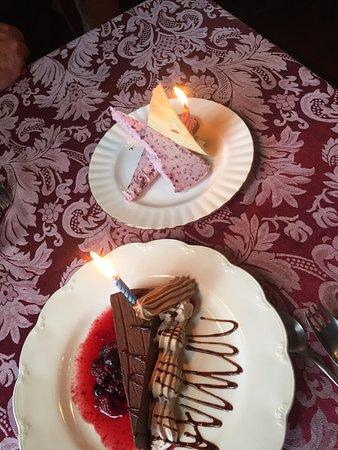 Dino's at Bumboras: Dessert to celebrate our 40th wedding anniversary