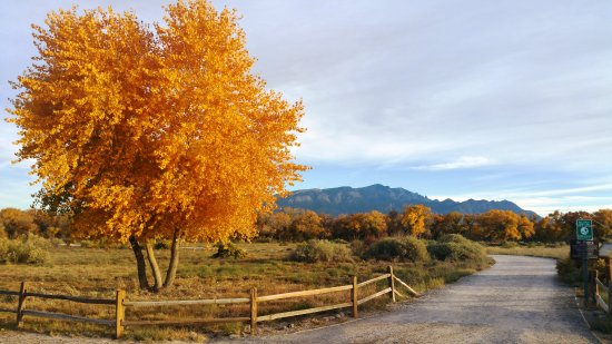 Santa Ana Pueblo, Nowy Meksyk: beautiful fall colors and walking paths through nature