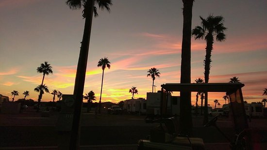 Sunset at Saddle Mountain RV Park, Tonopah, Az