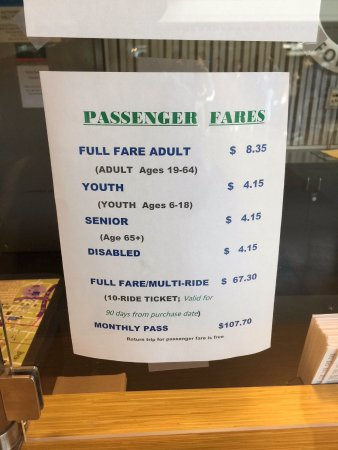 Washington State Ferries: passenger fares