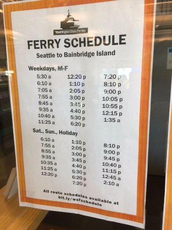 Washington State Ferries: schedule
