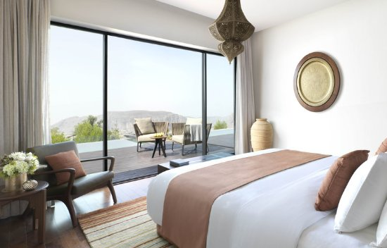 Jabal Akhdar, Oman: Master Bedroom in Cliff Pool Villa with Views