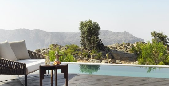 Jabal Akhdar, Oman: Cliff Pool Villa View