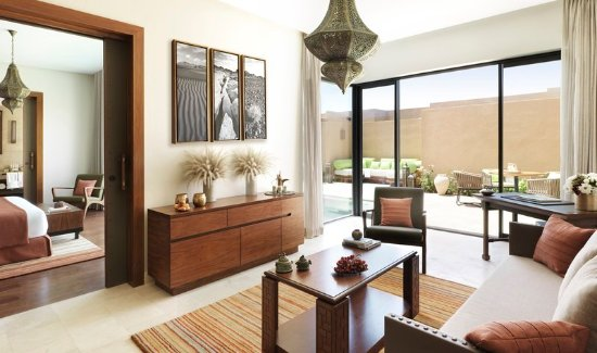 Jabal Akhdar, Oman: One Bedroom Garden Pool Villa Lounge