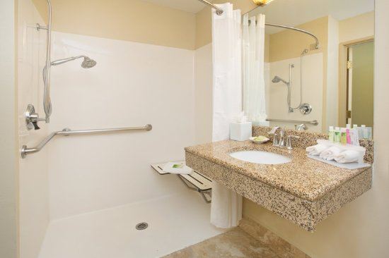 Englewood, CO: ADA/Handicapped accessible Guest Bathroom with roll-in shower